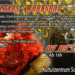 Upcycling_Pulltabs_Workshop_Kulturzentrum_Schmelze