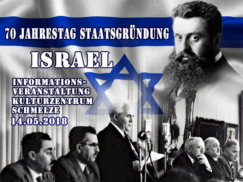Staatsgründung_Israel_Kulturzentrum_Schmelze